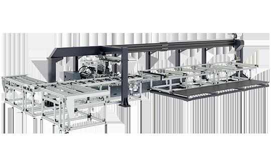 MOS6000 Solar Pannels Aluminum Frame Profiles Cutting Line